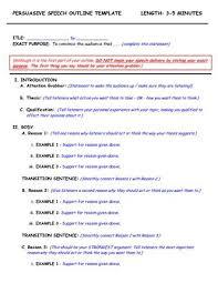 persuasive speech template outline template for a speech  persuasive speech outline template  outline template for