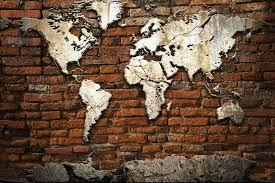 free grunge concrete world map