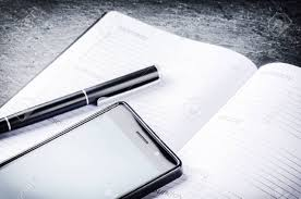 Agenda Business Business Concept With Agenda Mobile Phone And Pen Copy Space