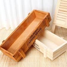 wooden trough planters vintage wood garden flower planter succulent pot rectangle trough box plant bed wooden