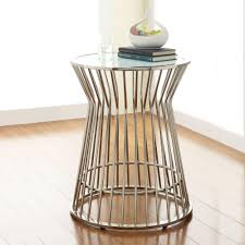 innovative metal drum accent table with homesullivan southgate glass top drum accent table 40e352b262w3a