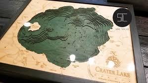 Nautical Wood Map Crater Lake Sing Tam Lee