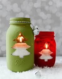 Ideas For Decorating Mason Jars For Christmas Christmas Tree Mason Jar Votive Mason Jar Crafts Love 25