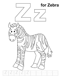 Small Picture Z for zebra coloring page with handwriting practice Alphabet