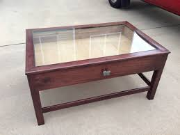 30 best ideas of coffee tables with glass top display drawer throughout glass coffee table display case