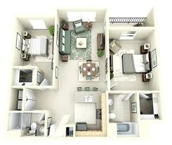 two bedroom one bath house plans with seating for four a kitchen island for three two