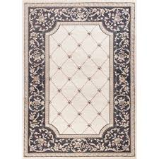 kas oriental rugs avalon ivory and grey courtyard rectangular 3 ft 3 in x 5 ft 3 in rug