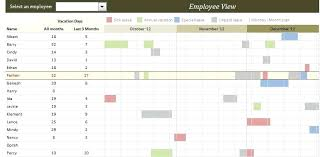 Excel Vacation Calendar Template Employee Planner Free In Team