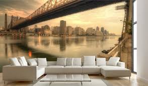 Refreshing Wall Mural Ideas For Your Living Room