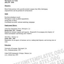 Resume For Stocker Free Sample Grocery Store Resume No Experience