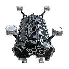 v12 mercedes engine block coffee table