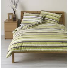 wilko duvet set double striped green