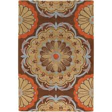 chandra dharma blue brown yellow pink 5 ft x 8 ft