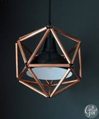 ikea hacks wooden geometric pendant