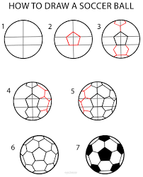 How to Draw a Soccer Ball (Step by Step Pictures)   Cool2bKids