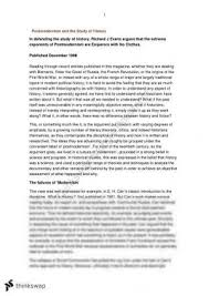 history extension postmodernism and the study of history essay