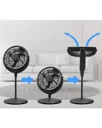 fan quiet. energy efficient pedestal 12-inch quiet 3 speed floor fan adjustable height - whole room u