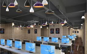 cafe lighting design. Interior Lighting Design Ideas For Internet Cafe