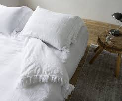 passion for linen duvet cover loulou with fringes