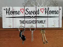 home sweet home personalised key holder