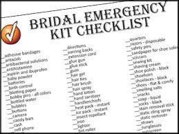 to print your bridal emergency kit checklist