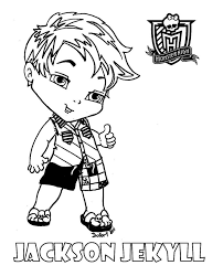 Baby Jackson Printable Coloring Sheet From