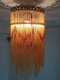 vintage style glass beaded fringe ceiling lampshade light shade