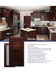 Mocha Shaker Kitchen Cabinets Kitchen Cabinets Quality Wood Cabinets At Discounted Prices