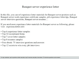 Catering Server Resumes Sample Resume For Banquet Sales Manager Com