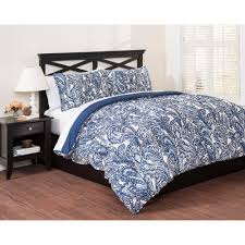 east end living vintage paisley 3 piece bedding comforter set blue com