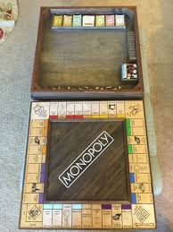 Wooden Monopoly Board Game Man Proposes With Custom Monopoly Board amazing Wooden Monopoly 12