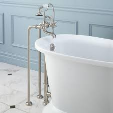 freestanding telephone tub faucet supplies drain porcelain cross handles