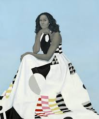 amy sherald mice lavaughn robinson obama 2018 oil on linen photo courtesy the national portrait gallery smithsonian insution