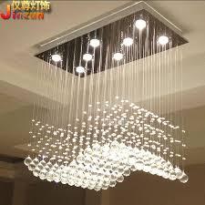 innovative chandelier lights for living room rectangular crystal lamp living room lights restaurant lights wavy