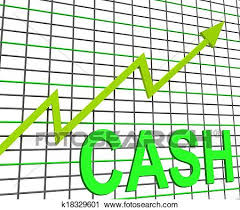 Chart Showing Increase Cash Chart Graph Shows Increase Wealth Money Currency Stock