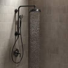 bronze rain shower head with handheld. view the kohler artifacts hydrorail custom shower system package with single-function. rain headsbathroom bronze head handheld h