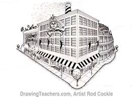 perspective drawings of buildings. Wonderful Buildings Draw Building In 2point Perspective Step By With This Lesson  In Drawings Of Buildings D