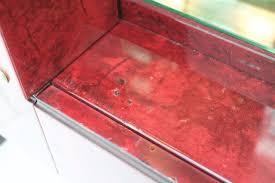 Beleuchteter Barschrank In Rotem Ziegenleder Von Aldo Tura 1960er