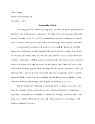 interpersonal relationships at work essay the importance of interpersonal relationships essay bartleby