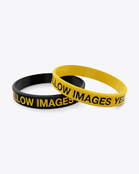 You can use these psd templates to create commercial and personal design presentations. Silicone Wristbands Mockup In Apparel Mockups On Yellow Images Object Mockups