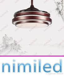 2019 nimi939 32 36 42 inches american invisible ceiling lights fan stealth mute led chinese restaurant retro light dinning room acrylic lighting from