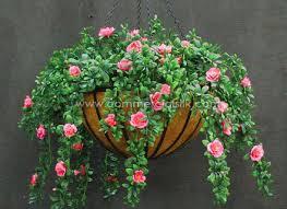 outdoor artificial flowers hanging baskets artificial