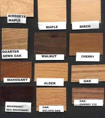 Wood Stain Comparison Chart Wood Stain Color Samples
