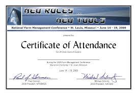 Certificate Of Attendance Templates Blank Certificates