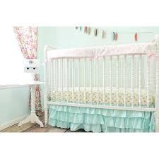 gold crib skirt aqua ruffled skirt baby bedding aqua pink gold crib bedding crib bedding set