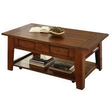 steve silver company desoto cocktail table with caster in dark oak finish