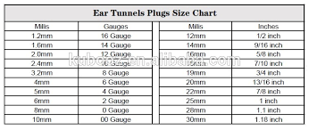 Plug Size Chart After 1 Inch Brass Saddles Plug Veer Open Hoop Earring Plugs Flesh Tunnels Ear Stretching Gauges Body Piercing Jewelry Buy Earring Plugs Saddle Plug Brass