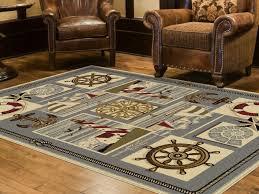 nautical elements area rug