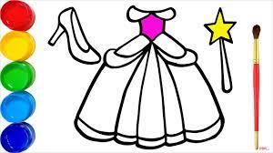 35+ Tranh tô màu váy công chúa đẹp nhất dành tặng bé gái