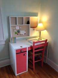 ikea office decor. Wonderful Ikea Micke Desk In White And Pink With Pnk Chari On Wooden Floor For Study Office Decor